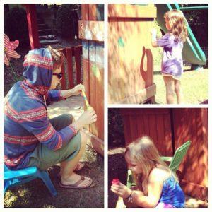Emily Maynard and Jef Holm Paint a Playhouse